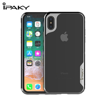 IPAKY For iPhone 7 Case TPU+PC 2 In 1 Full Cover Electroplate Frames Luxury Transparent Back 7plus/8 Plus Coque