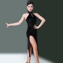 221c5e75c Latin Dance Dress Black Sexy Sleeveless Fringe Skirts Lady Dancer Clothes  Cha Cha Samba Performance Practice Wear Dresses DN2873