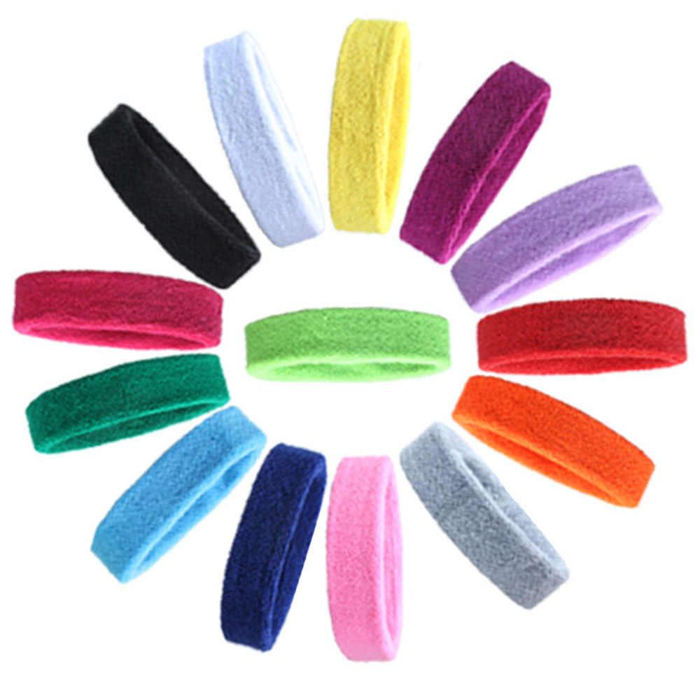 Banda elástica antideslizante para el cabello banda deportiva para el cabello banda para el sudor correr Fútbol Tenis bufanda 14 colores para elegir