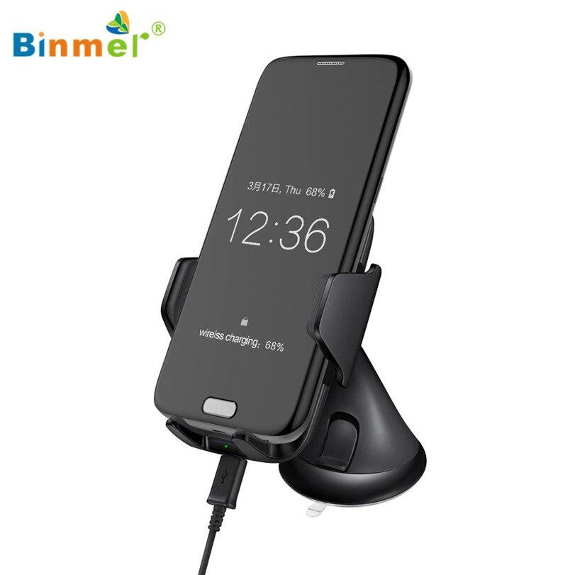 imágenes para Caliente-venta BINMER Teléfono Cargador de Coche Cargador de Coche Soporte Ajustable de Soporte de Carga Inalámbrica Qi Pad Para Samsung Galaxy S7 Nota 5 Regalos