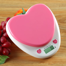 Kitchens Electric Scales Home Using 5KG Capacity ABS Material Heart Shape Baking 0.1g Precision Weighing AAA Battery Drop Ship
