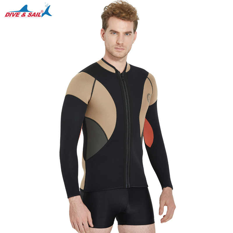1dc2f01a9e Detail Feedback Questions about Men s 3mm Neoprene Wetsuits Jacket Long Sleeve  Wetsuit Top Surfing Diving Suit Swimwear 1.5mm Wetsuit Pants Full Legs on  ...