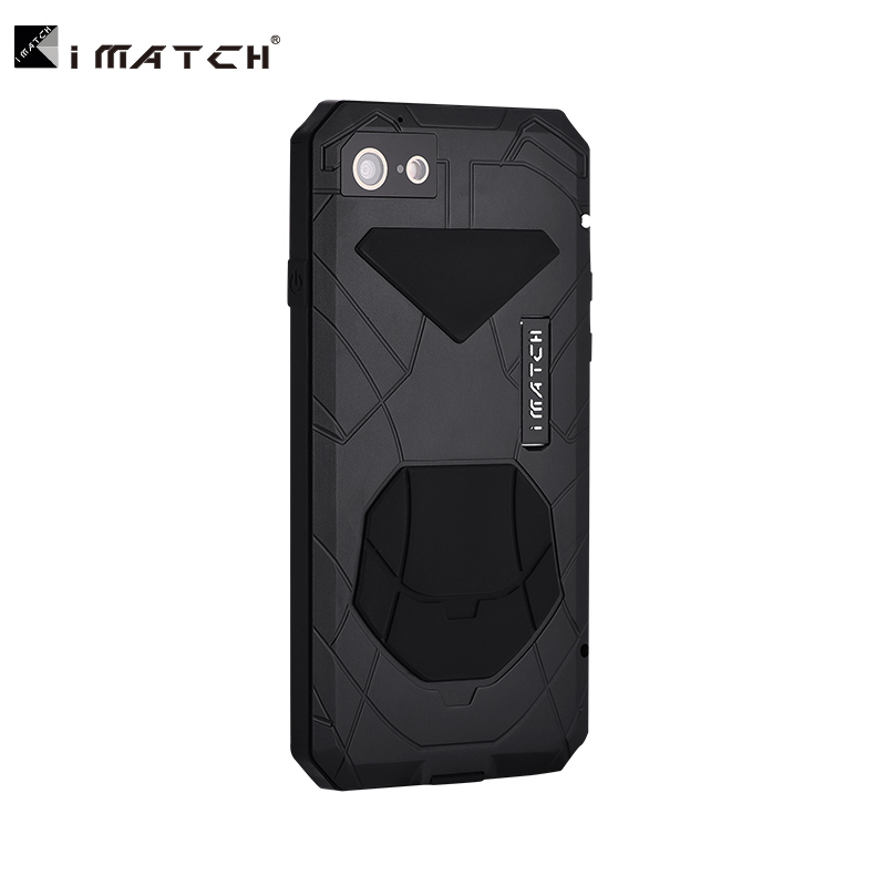 Case For Apple iPhone 7 8 Plus Luxury Outdoor Army Tactical Shockproof Waterproof Metal Silicone toughened Glass Hard Case Cover