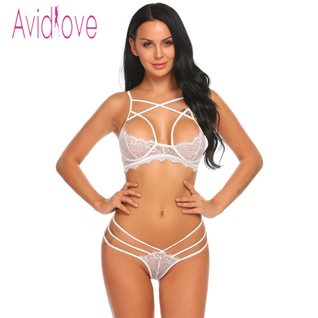 Avidlove Open Bra Crotch Erotic Lingerie Set Lace Nightgowns Sexy Bra Panty Womans Lingerie And Exotic Bra Sets Sex Products 2