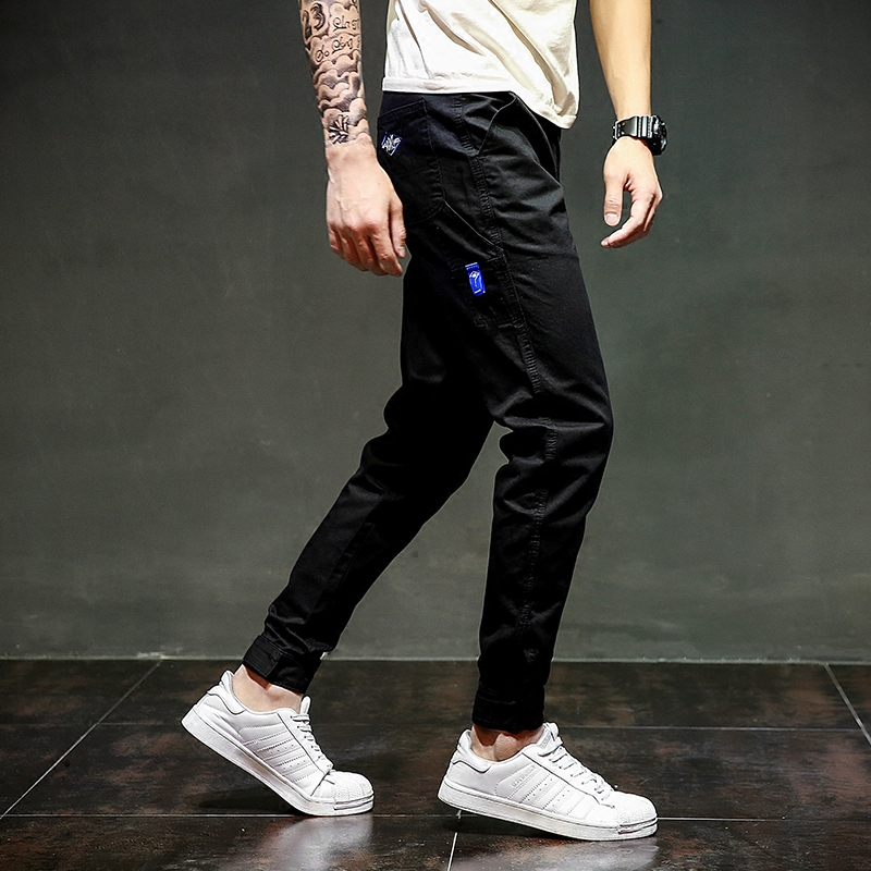 Designer Black Jeans Ankle Length Casual Pants High Quality Harem Pants 28-40 Brand Clothing Men`s Jogger Jeans Pants C315