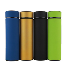 Fashion Plain Color Thermos Bottle 304 Stainless Steel High Grade Vacuum Flask Thermoses Travel Cup Thermal Coffee Mug 500ml
