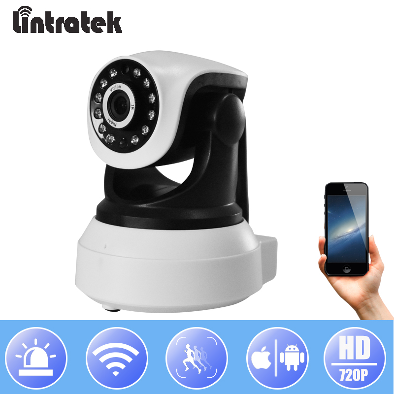 Lintratek Security Wifi IP Camera 720P Wi-fi Surveillance Wireless CCTV Camera PTZ Onvif P2P Baby Monitor