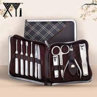 XYj 10 шт./партия, универсальные маникюрные наборы, набор инструментов для ухода за ногтями из нержавеющей стали, кусачки для ногтей, набор для ...
