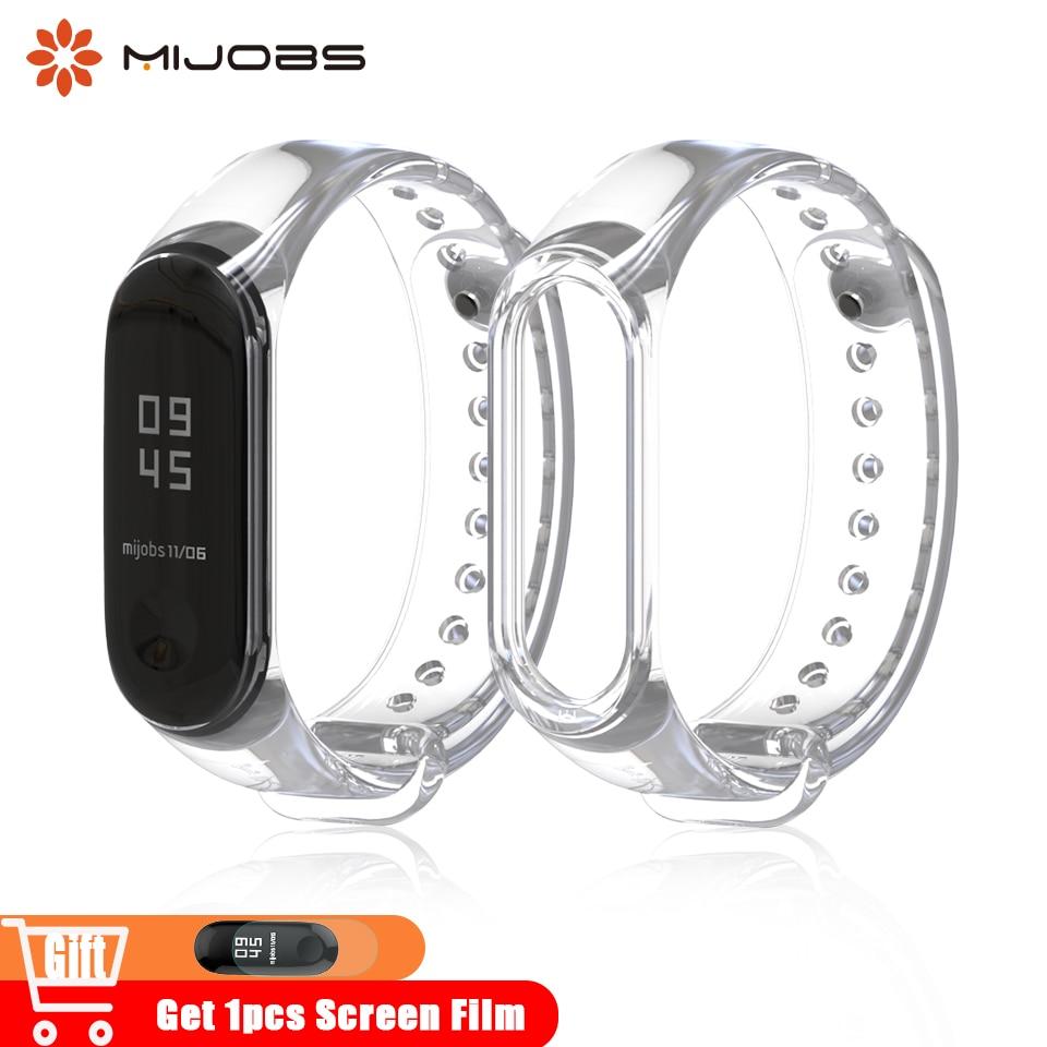 ba71a04f525c Mijobs Silicone Wrist Strap Mi Band 3 Correa Band Smart Watch Accessories for  Xiaomi mi Band