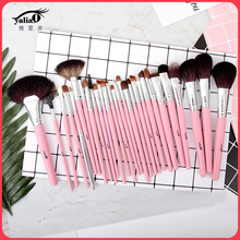 Get more info on the YALIAO 28pcs Pink/brown Professional Makeup Brushes Set Synthetic Horse Goat Hair Brush Eyeshadow Full Set Brush Make Up Brushes