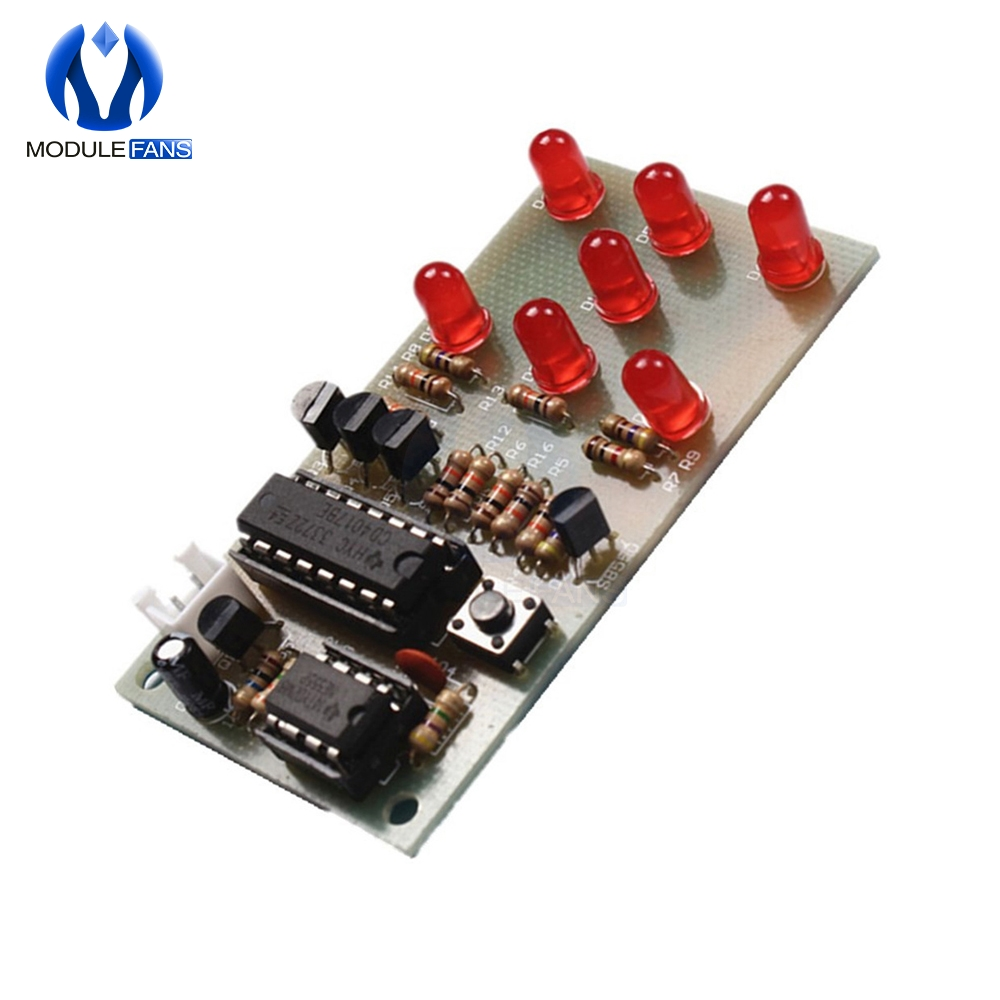 Sequenzielles Modul NE555 CD4017 mit 10 ROTEN LEDs 5 mm EIN ITALIEN...