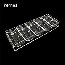 Yernea High-quality Poker Chips Box Set Texas 100Pcs Chip Acrylic Transparent Portable Baccarat Tray Casinos No Cover
