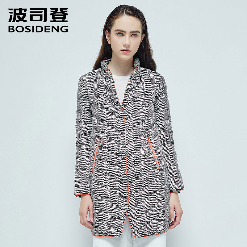 BOSIDENG women winter   coat   long   down   jacket 90% white GOOSE   down     coat   commuting OL high quality windbreaker parka B1601060
