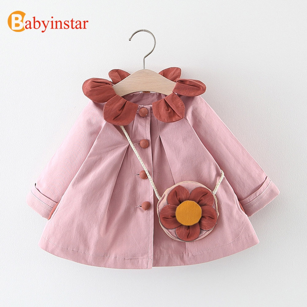 Brilliant Babyinstar Jackets & Coats For Girls Petal Collar Lovely Style Outwear Toddler Children's Clothing Coats Costume With Bag Clear And Distinctive
