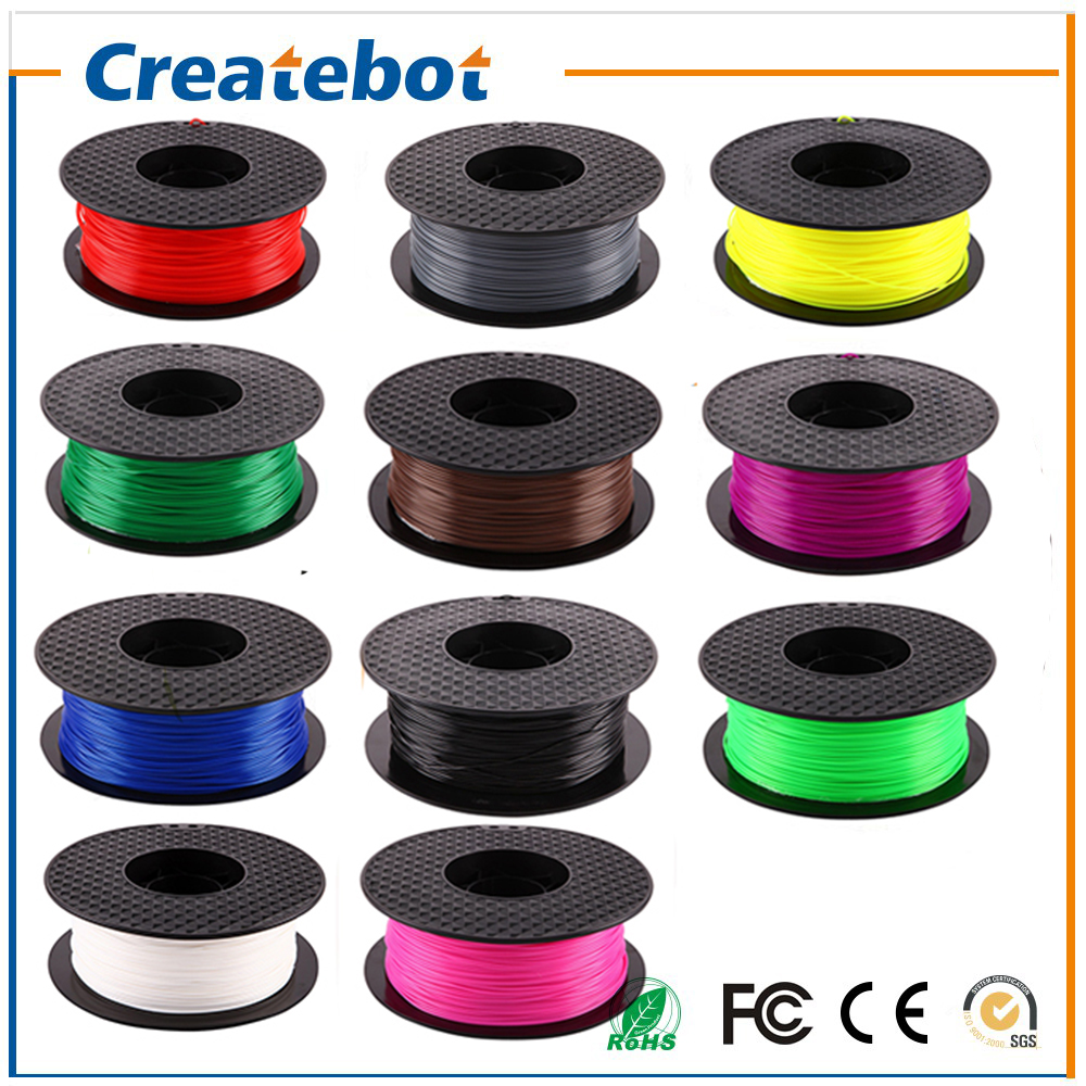 Createbot 3D Printer Material 1 kg 2.2 lb 1.75mm 3mm PLA Filament  Supported 3D printer Machine  Kit full color option anet a6 a8 reprap 3d printer full acrylic assembly diy 3d printer kit with auto sensor 1roll filament sd card filament holder