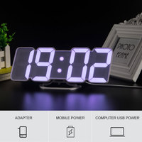 3D светодиодный цифровой будильник Дистанционное управление с 115 Цвета цикл Дисплей Время Дата Температура Дисплей настольные часы настенн...