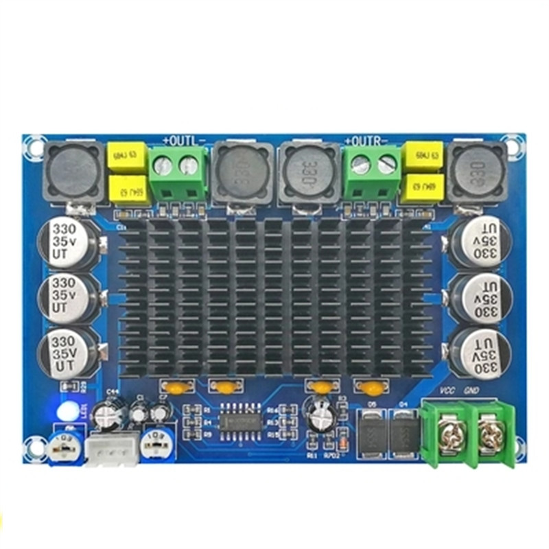 XH-M569 TPA3116D2 two chip dual channel preamplifier 150W x 2 high power digital amplifier board