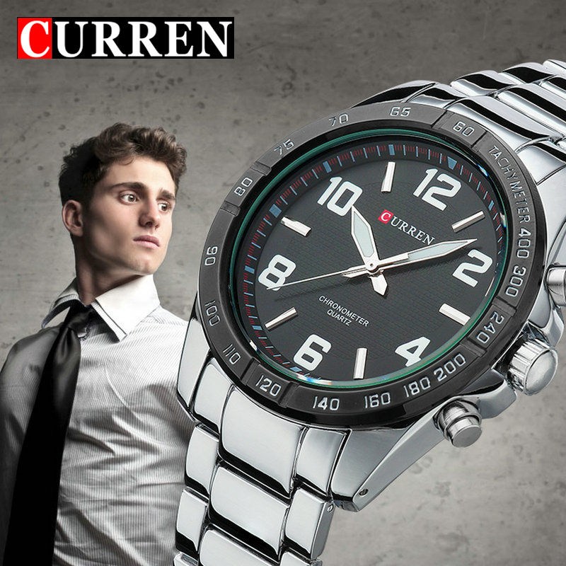 Fashion Quartz Casual Man Wrist Watch full steel Reloj Vogue Business Men Wristwatch Brand Curren quality gift sale reglogo 2017 new full steel automatic watch binger casual fashion wristwatch with gold calendar man business hours clock relogio reloj