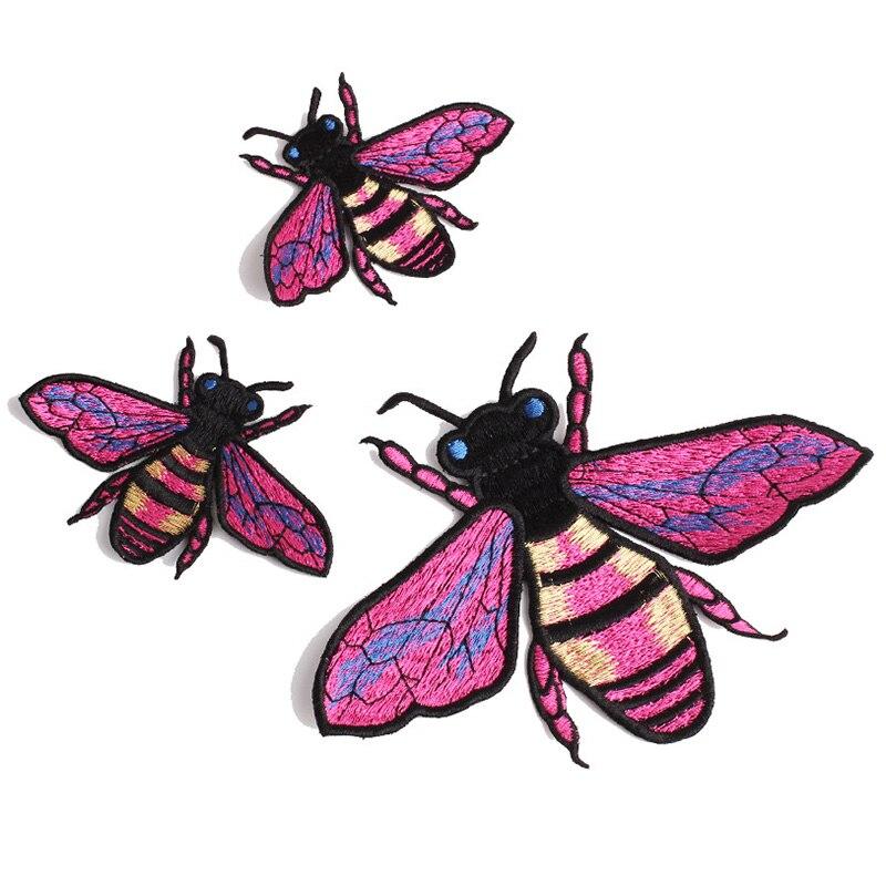 Фиалка Honeybee Iron on Patch Bee Аппликация Вышивка швейная одежда значки большие нашивки для курток DIY украшения для джинсов