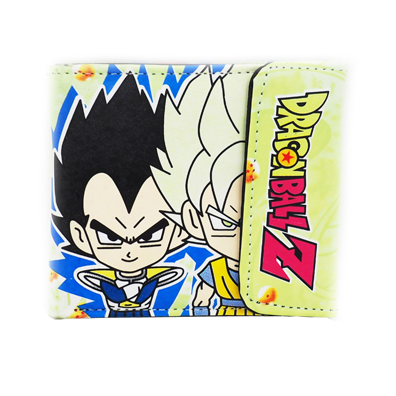 Japanese Anime DRAGON BALL Z Super Saiyan Son Gohan Vegeta PU Short Wallet Purse Colorful Printing