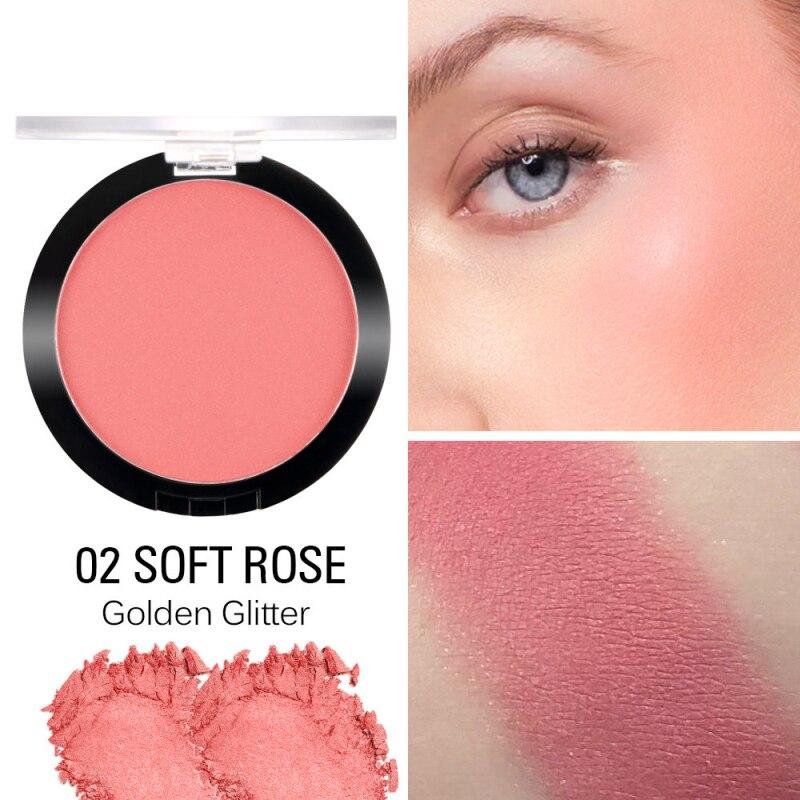 SACE LADY Макияж Румяна натуральный Сияющий порошок стойкий Румяна пигментированные запеченные для щек красный, матовый косметические для макияжа лица TSKM1 - Color: 02