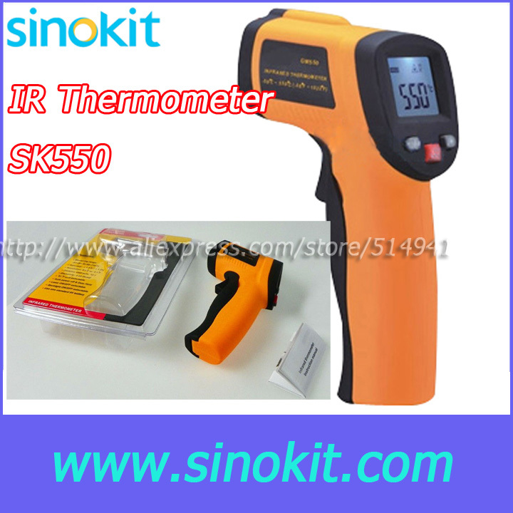 Free Shipping Measure Range -50 ~ 550'C Infrared thermometer SK550 [randomtext category=