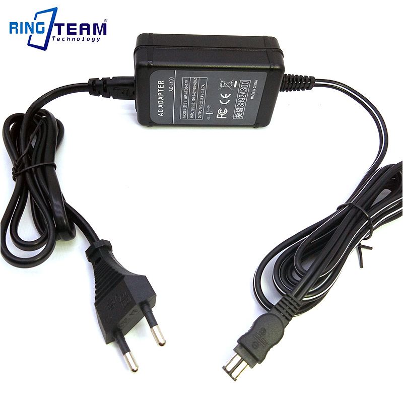 AC-L100 AC-L15 Camera Camcorder AC Power Adapter for Sony CCD-TR TRV DCR-DVD PC TR TRV Mavica FD / Cybershot DSC-F/S/D Series ac power adapter dc 8 4v 1 5 1 7a original for sony camera camcorder ac l200b l25b lcc77