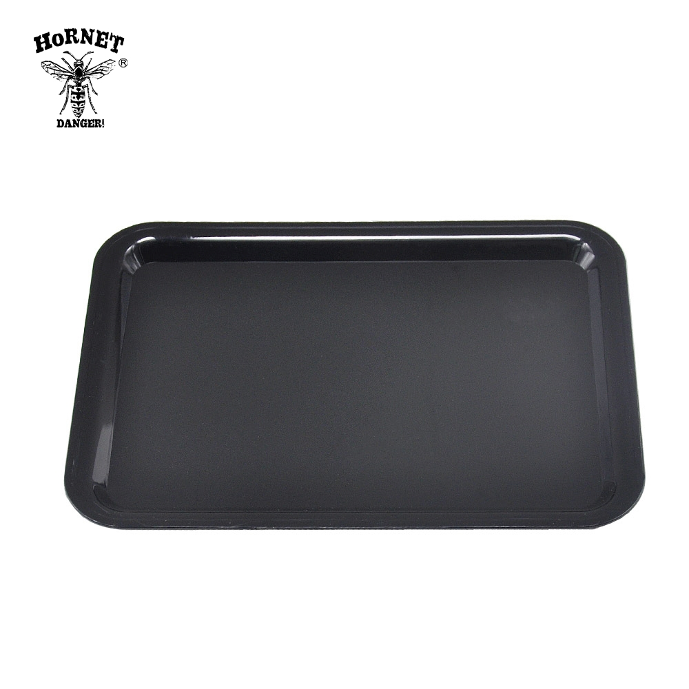 HORNET DANGER Portable Rolling Tray Metal Cigarette Container Tray Smoking Tobacco Plate Hand Roller Tobacco Storage Tray