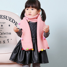 Korean version of the lovely rainbow bean wool children's scarf men and women baby scarves thicker models in winter optionalS103