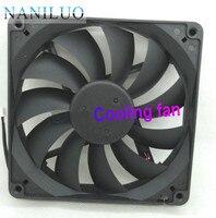 Genuíno dfs132512m 13025 12 v 13cm 135*135*25mm 2.4w duas linhas de fonte alimentação ventilador de refrigeração