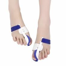 цена на 2 pcs/lot Big Toe Separator Corrector Straightener Bunion Splint Toe Straightener Foot Pain Relief Hallux Valgus Feet Care