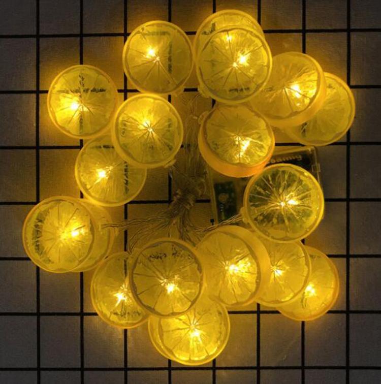 Led Lemon String Light Bedroom Flash Color Lights New Year Decoration Holiday Lighting