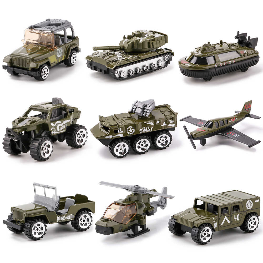 Military Series Diecast Metal Alloy Model Toy Car Model Cars Vehicle Set Collection Toys For Children Set of 3Pcs 1:64