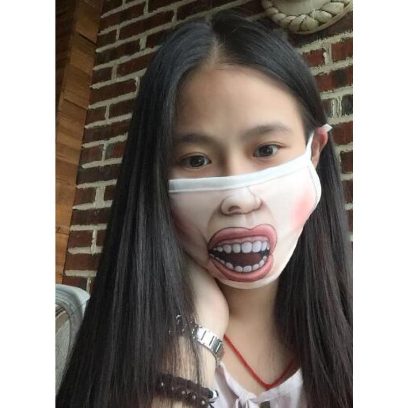 Funny face Kawaii Anti Dust mask Kpop Cotton Mouth Mask Cute Cartoon Mouth Muffle Face Mask