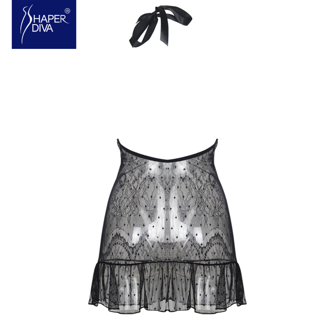 Shaper diva Sexy Babydoll Chemises Lingerie dress Women Lace Sleepwear Lingerie Nightdress See Through Underwear Baby Dolls