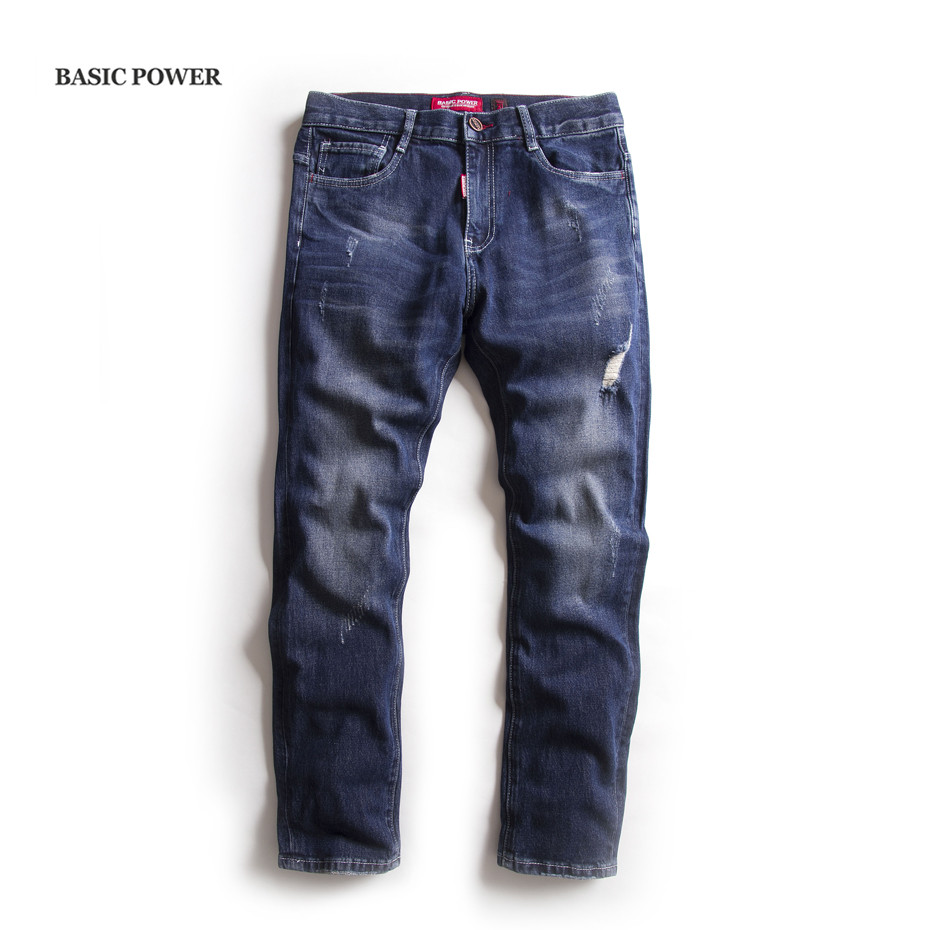 BASIC POWER Spring Men's Casual Fit Simple Jeans Men Clothing Male Denim Jean Pants Casual Denim Trousers 3101 men s cowboy jeans fashion blue jeans pant men plus sizes regular slim fit denim jean pants male high quality brand jeans