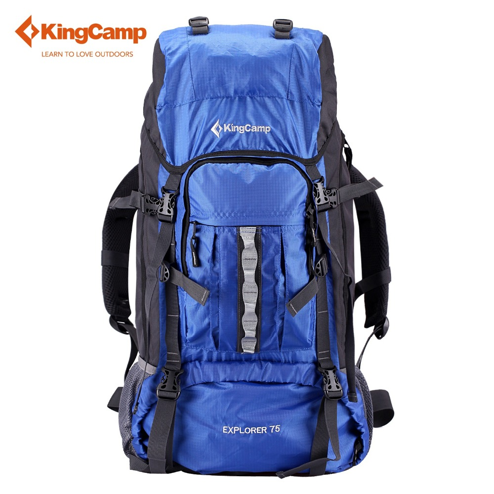 KingCamp 75L Hiking Backpack Bags Waterproof Durable Adjustable Strap Belt Camping Sport Outdoor Climbing Traveling