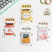 1X kawaii Creative cartoon Jam series stickers weekly plan Sticky Notes Post  Memo Pad Korean stationery School Supplies gift