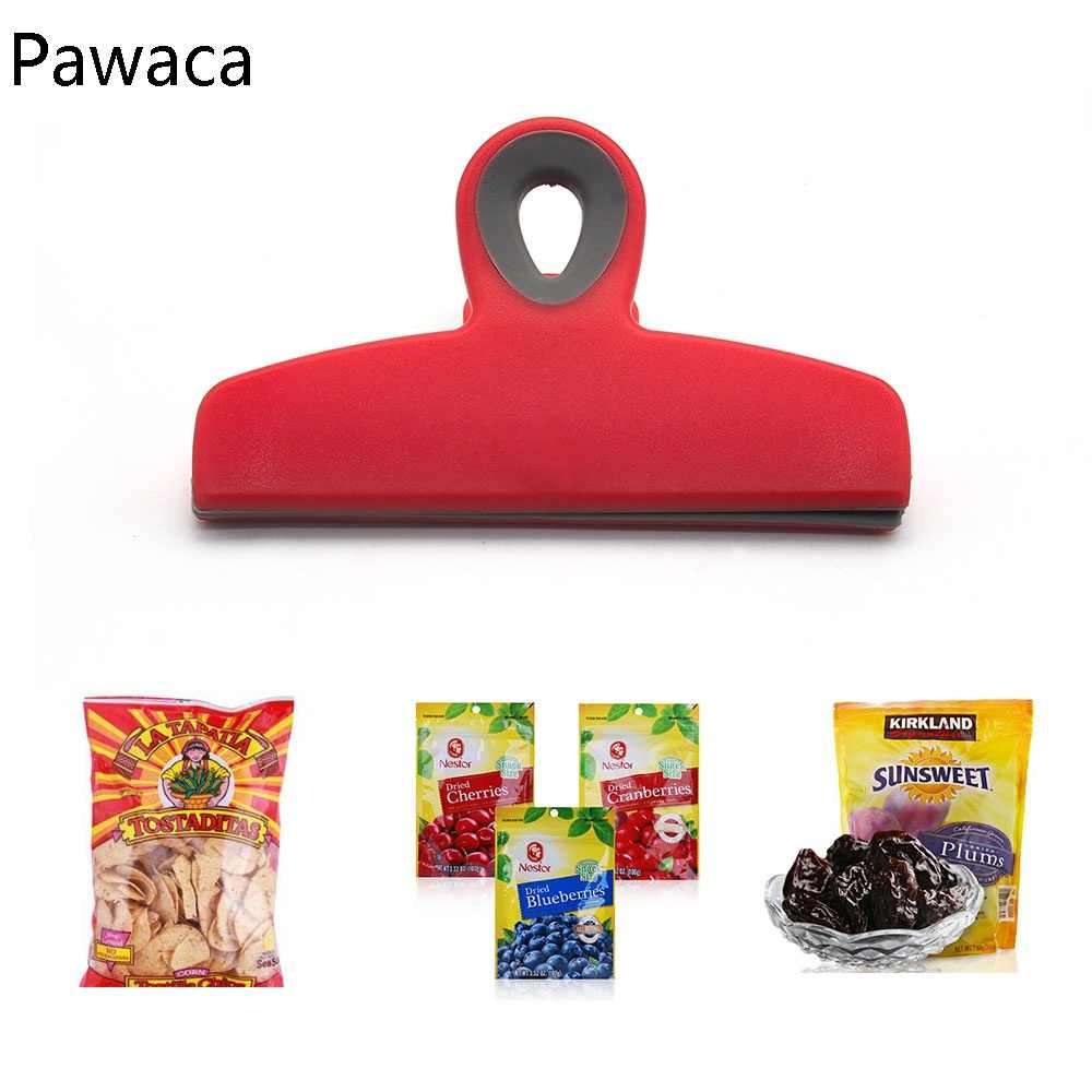 Food Snack Storage Seal Sealing Bag Clips Sealer Clamp Food Bag Clips Stationery Folder Household storage Food Close Clip