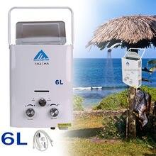 2018 Лидер продаж портативный водонагреватель CAMPER нагреватель воды для кемпинга кипятильный LPG газа 12KW 6L + мгновенный Душ самостоятельной сборки