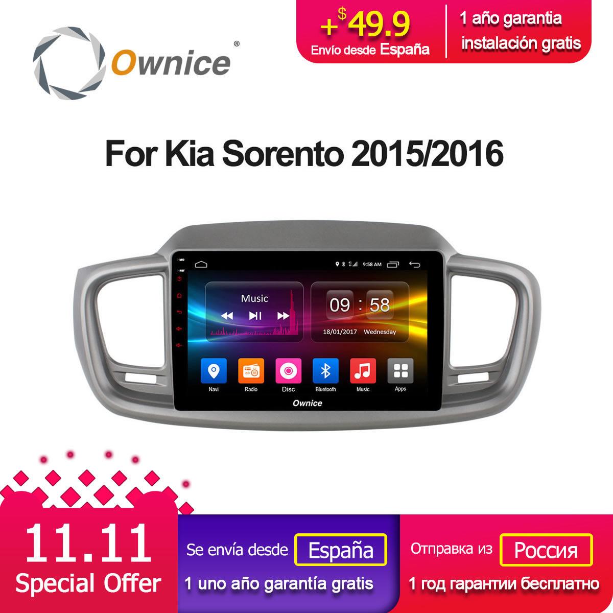 Ownice C500+ G10 Octa Core 10.1 Android 8.1 Car DVD Player Navi for Kia Sorento 2015 2016 stereo 4G LTE radio gps heat units ownice c500 4g sim lte octa 8 core android 6 0 for kia ceed 2013 2015 car dvd player gps navi radio wifi 4g bt 2gb ram 32g rom