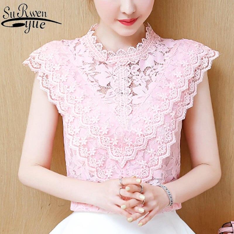 HTB1KjphbQ5E3KVjSZFCq6zuzXXam Ladies tops Fashion Women's Clothing Wild Perspective Small Shawl Chiffon Lace Lacing Boleros shirts tops 802E 30