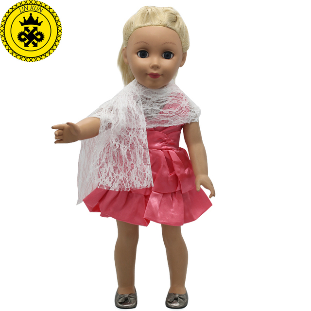 American Girl Doll Clothes Pink Princess Party Dress Doll Clothes ...
