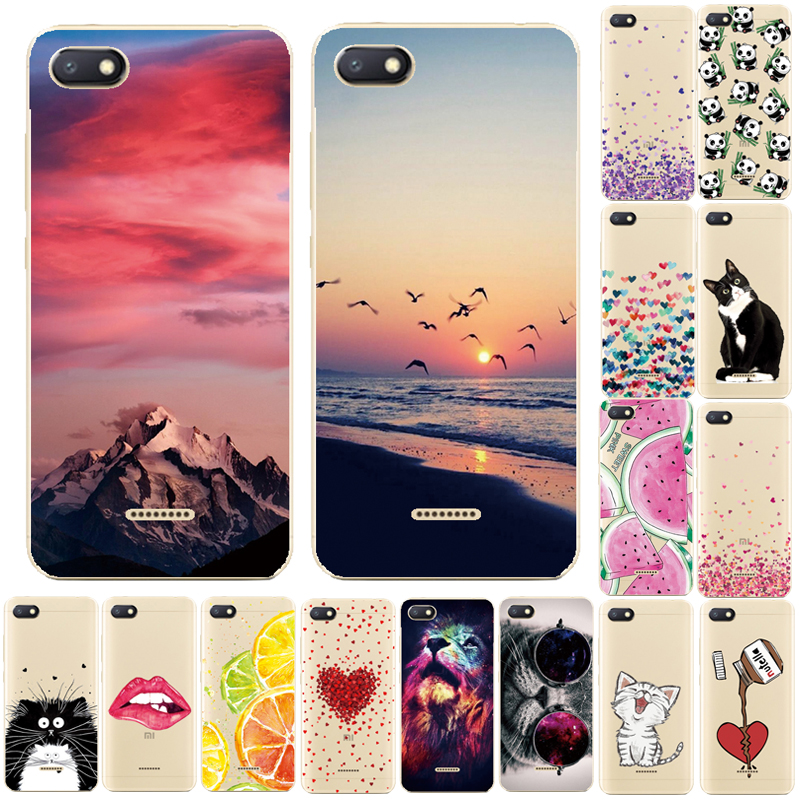 Case for <font><b>Xiaomi</b></font> <font><b>Redmi</b></font> <font><b>6A</b></font> Case Cover Silicone Phone Case for <font><b>Xiaomi</b></font> <font><b>Redmi</b></font> <font><b>6A</b></font> 5A 4A Cover Case Tpu Funda for <font><b>Xiaomi</b></font> <font><b>Redmi</b></font> <font><b>6A</b></font> Coque image