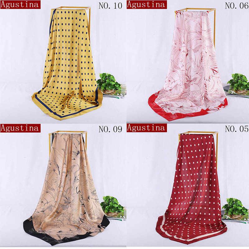 Шарф шарфы шелковые sjaal квадратные 90*90 шарфы хиджаб женские атласные дизайнерские брендовые Роскошные осенние зимние шали для волос радужные розовые А