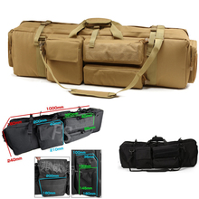 About 100cm Tactical Hunting Backpack Dual Rifle Square Carry Bag With Shoulder Strap Gun Protection Case 1000D Nylon