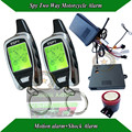 Spy motorbile alarm with shock alarm and motion alarm,microwave sensor sensitivity adjusted,outside learning code,remote start