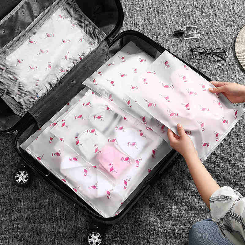 Fashion Transparent Flamingo Cosmetic Bag Travel Zipper Make Up Case Organizer Storage Makeup Pouch Toiletry Beauty Wash Kit Box