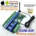 Nueva Versión 1 unids 16 Relé controlador GSM Batería de a bordo para apagar la alarma