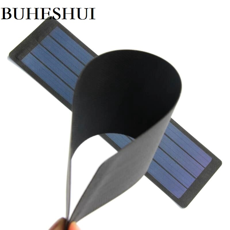 BUHESHUI 2W 6V Flexible Solar Cell Amorphous Silicon Foldable Solar Panel DIY Solar Charger Rain Resistant Super Slim Waterproof цена